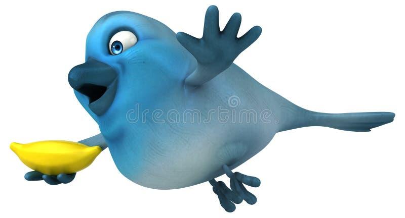 Blauer Vogel vektor abbildung
