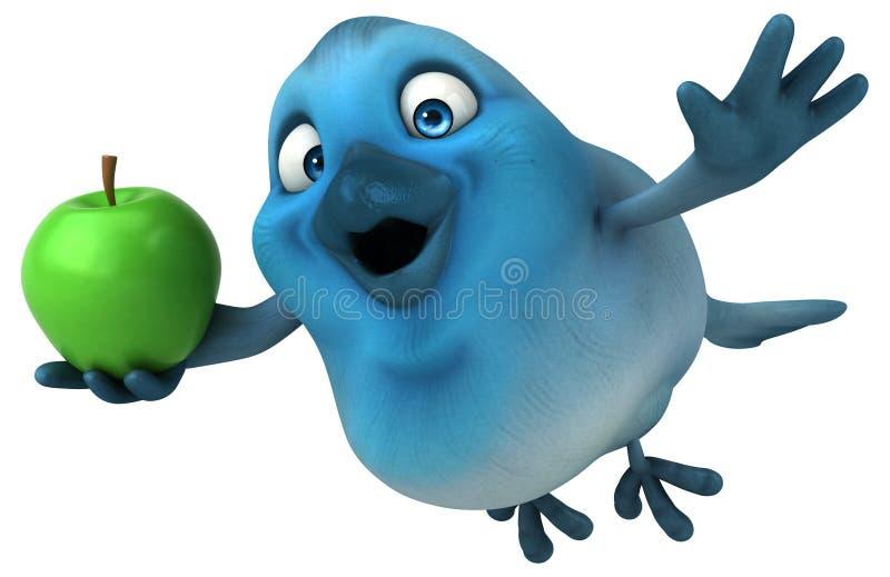 Blauer Vogel lizenzfreie abbildung