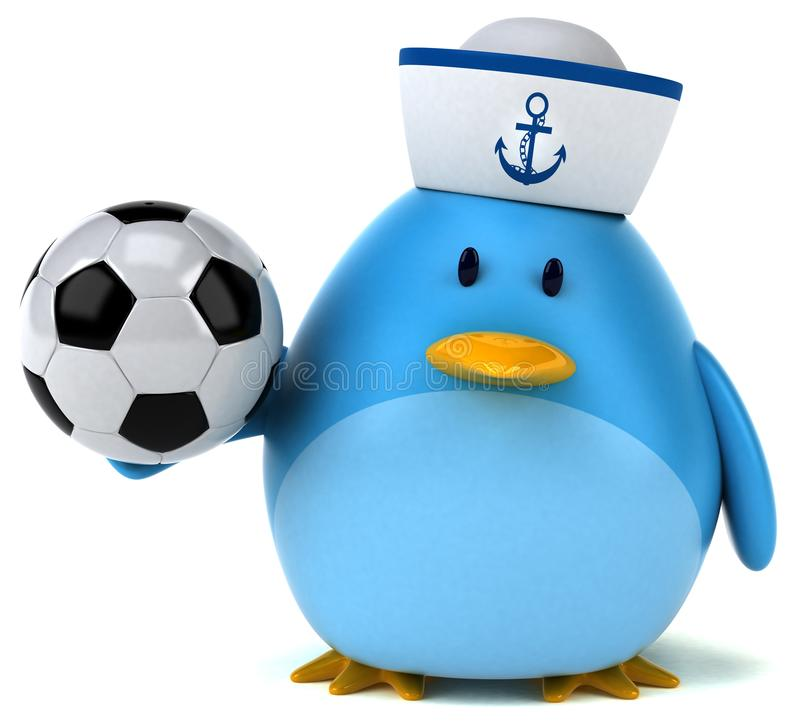 Blauer Vogel - Illustration 3D stock abbildung