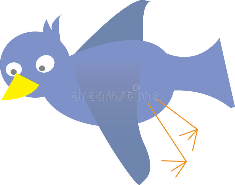 Blauer Vogelvektor lizenzfreies stockbild