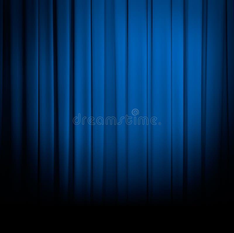 Blauer Vorhang oder drapiert lizenzfreie stockfotografie