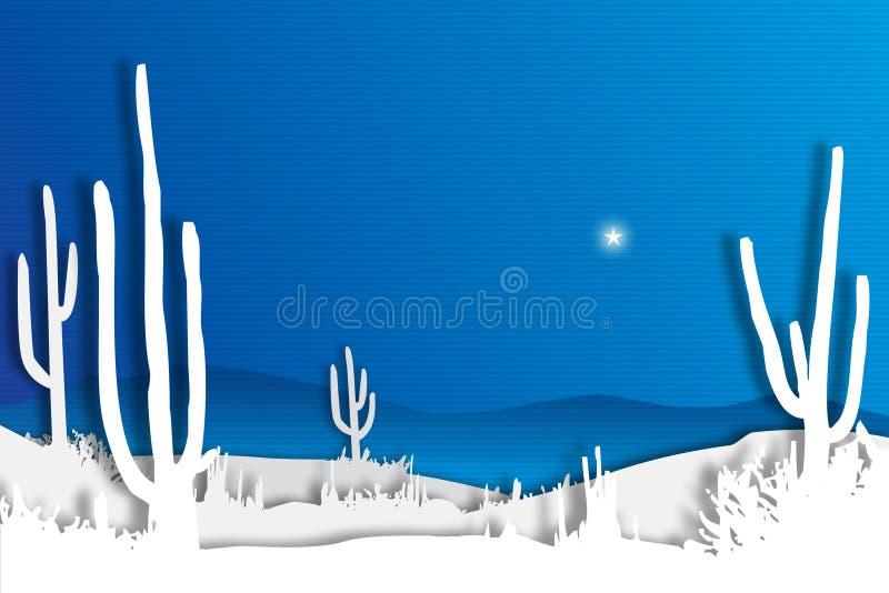 Blauer Wüsten-Himmel stockfotos