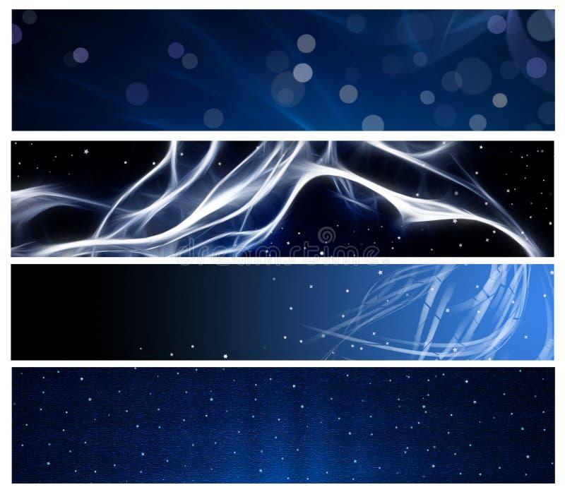 Blauer Web-Vorsatz und -seitenende stock abbildung