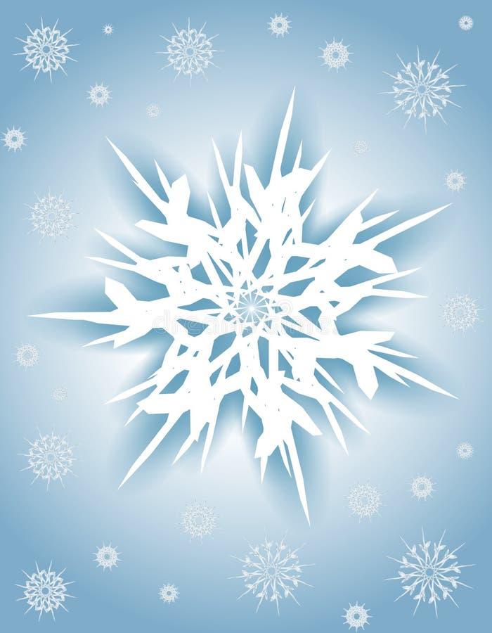 Blauer weißer Schneeflocke-Weihnachtshintergrund vektor abbildung