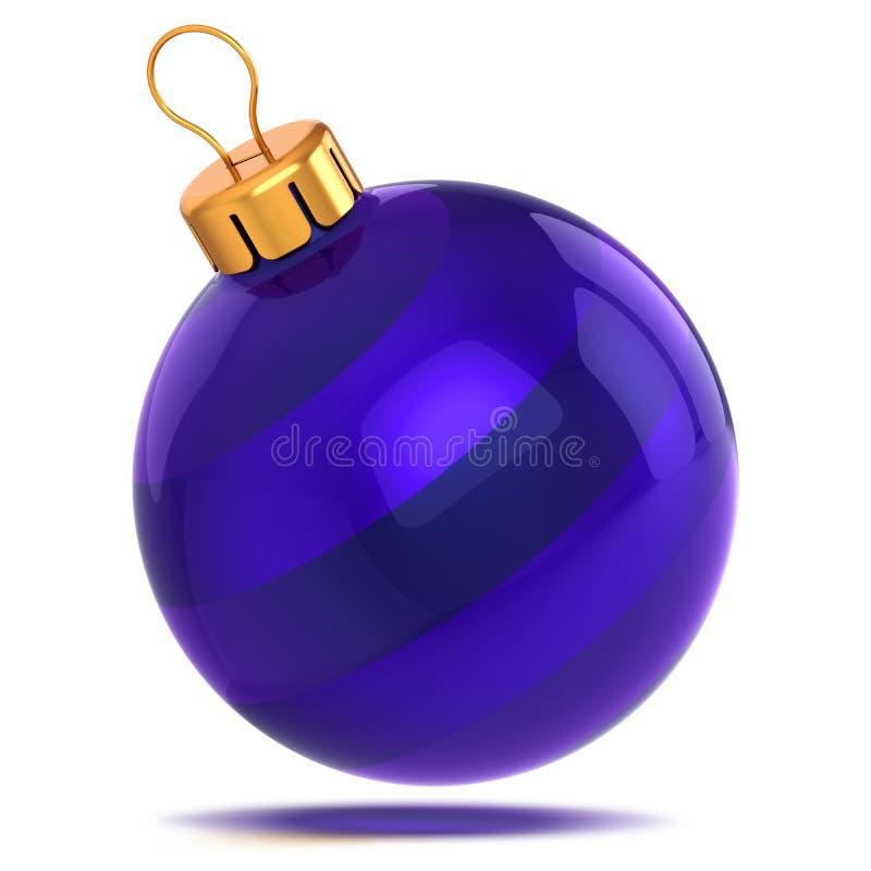 Blauer Weihnachtsball schön Happy New Years Eve lizenzfreie abbildung