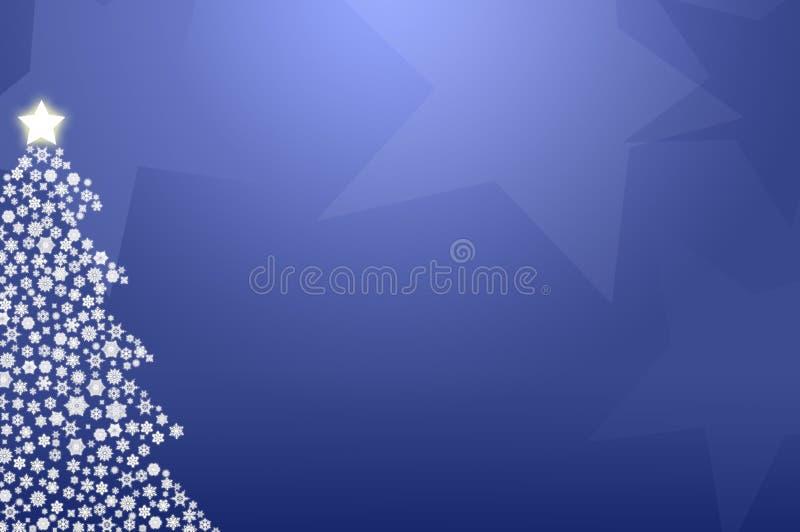 Blauer Weihnachtsbaum lizenzfreies stockbild