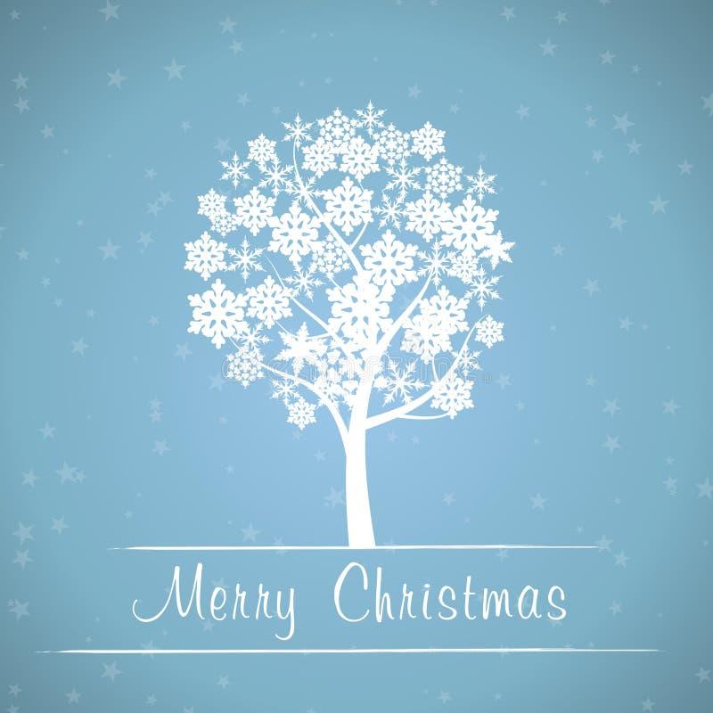 Blauer Weihnachtsbaumrahmen vektor abbildung