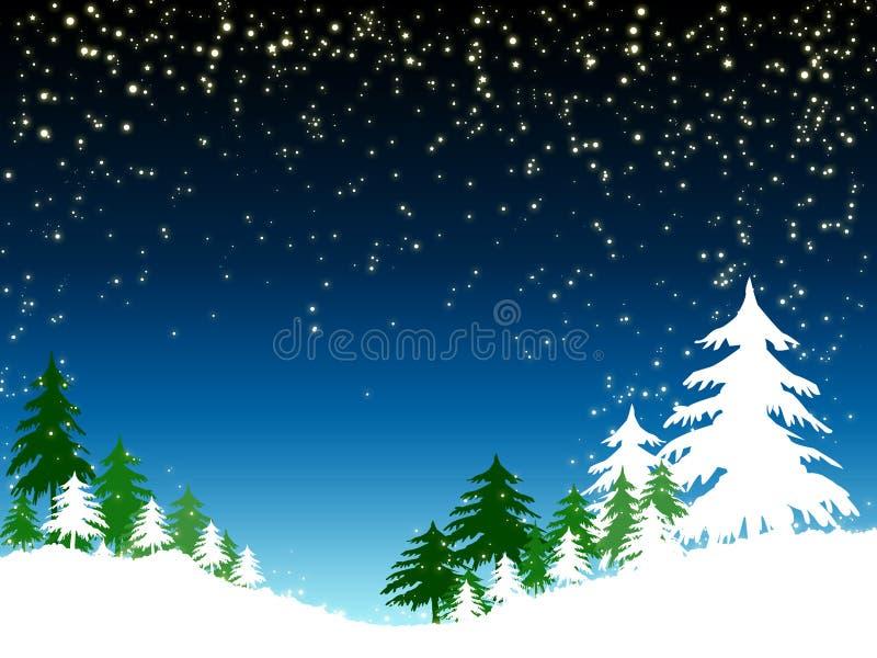 Blauer Weihnachtshintergrund lizenzfreie abbildung