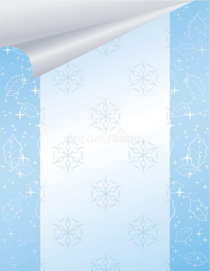 Blauer Weihnachtshintergrund vektor abbildung