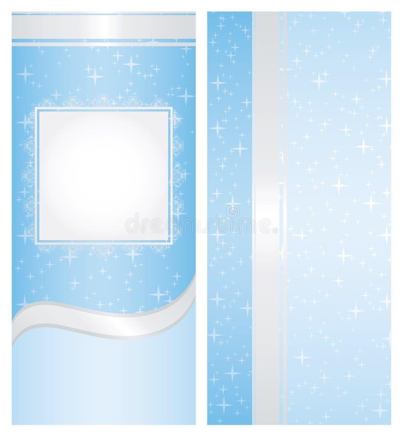 Blauer Weihnachtshintergrund 2 lizenzfreie abbildung