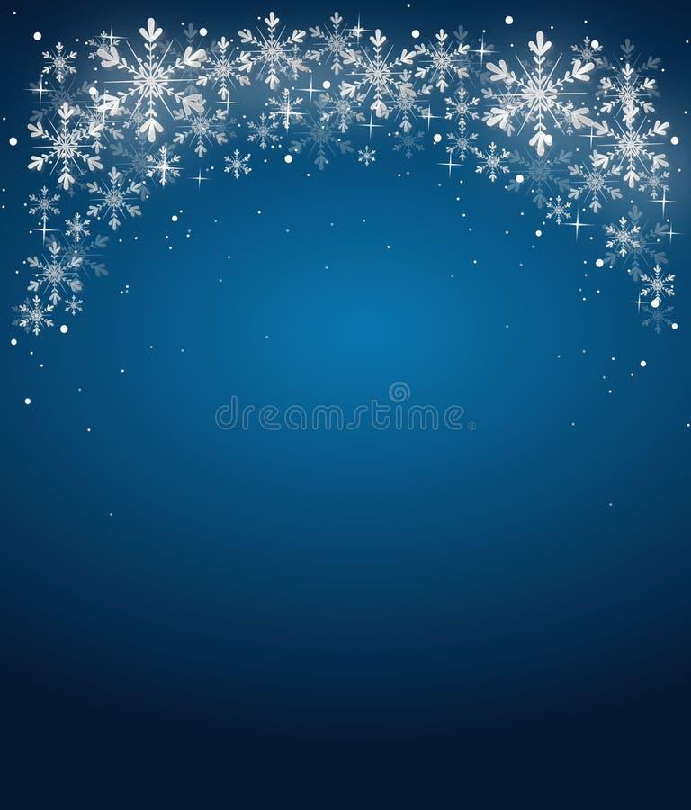 Blauer Weihnachtshintergrund stock abbildung