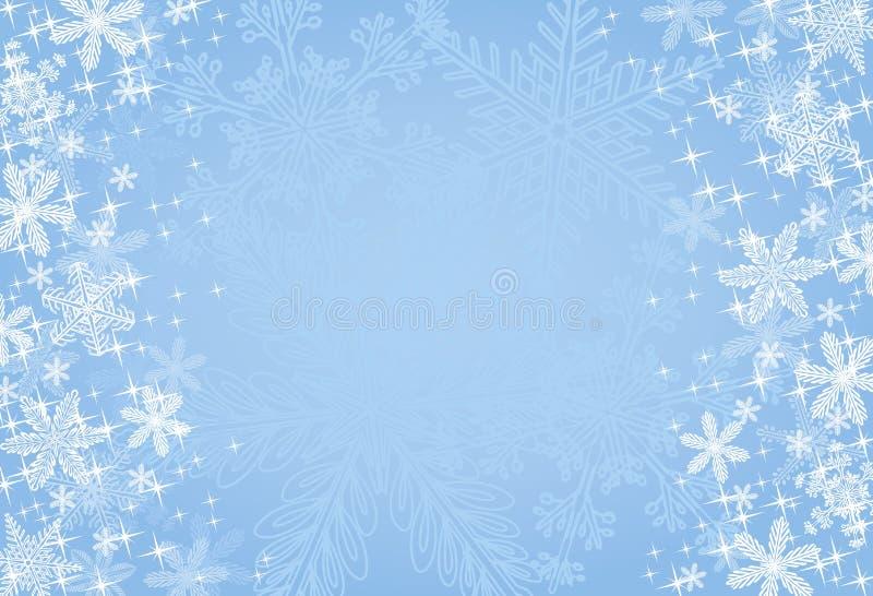 Blauer Weihnachtsschneeflocke-Hintergrund lizenzfreie abbildung