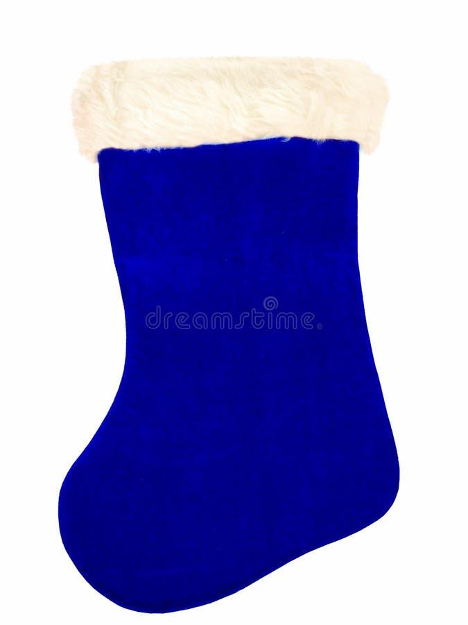 Download Blauer Weihnachtsstrumpf stockbild. Bild von blau, getrennt - 40785