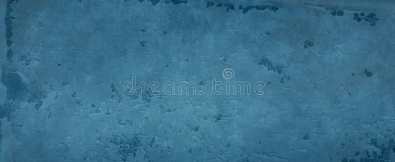 Blauer Weinlesehintergrundentwurf mit gebrochener und narbiger blauer Farbe, alter Zementwand oder Boden mit Kratzern und Sprünge vektor abbildung