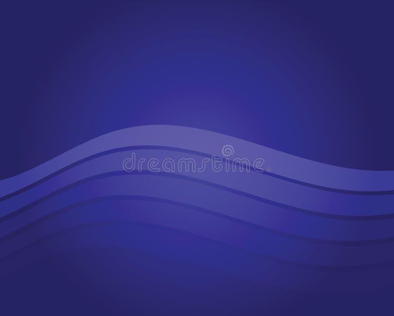 Blauer Wellen-Hintergrund lizenzfreie abbildung
