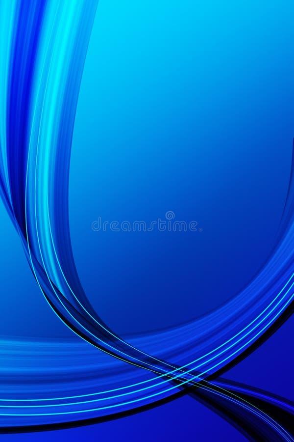 Blauer Wellenauszug lizenzfreie abbildung