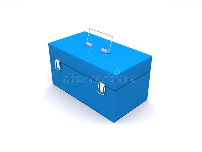 Blauer Werkzeugkasten lizenzfreie abbildung