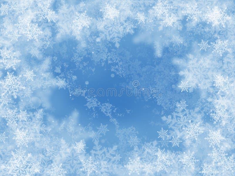 Blauer Winterhintergrund vektor abbildung