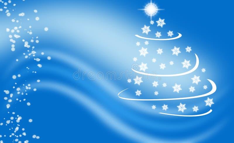 Blauer Winterweihnachtshintergrund stock abbildung