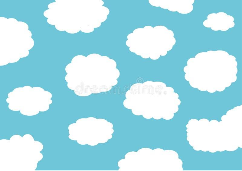 Blauer Wolkenhintergrund lizenzfreie abbildung