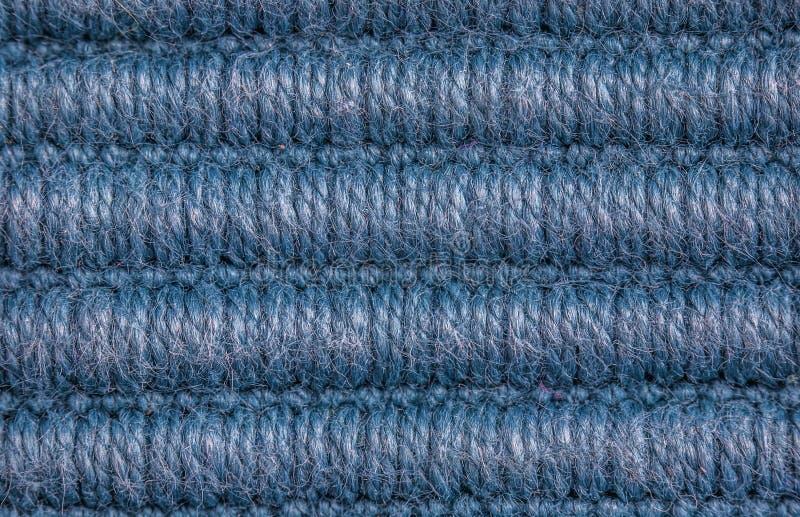 Blauer Wollebeschaffenheitshintergrund stockbild