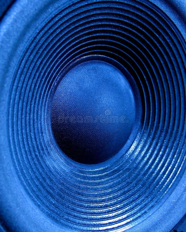 Blauer Woofer stockbild