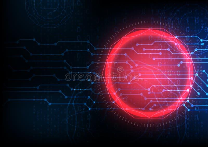 Blauer zukünftiger abstrakter digitaler Rechnerschaltungstechnologiehintergrund lizenzfreie abbildung