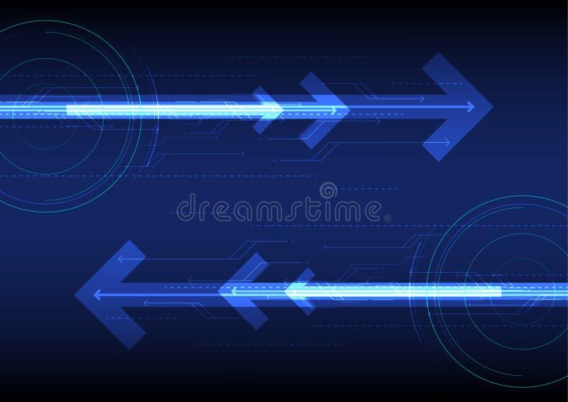 Blauer zukünftiger abstrakter Technologiehintergrund des Vektors lizenzfreie abbildung