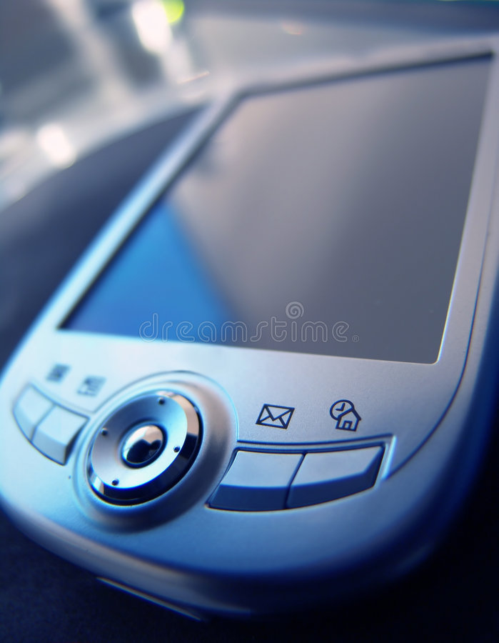 Blaues abgetöntes PDA lizenzfreies stockbild