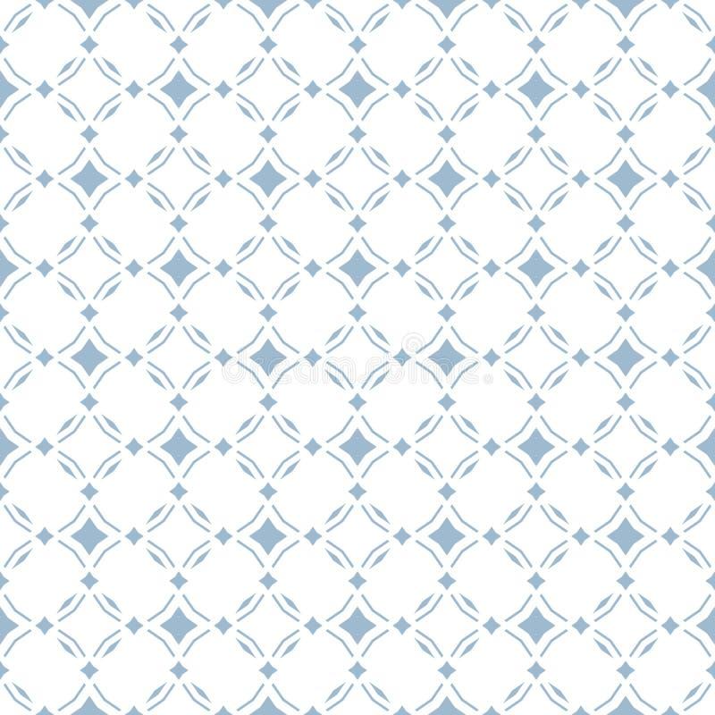 Blaues abstraktes geometrisches nahtloses Muster mit Diamanten formt Luxusvektorhintergrund Einfaches grafisches Verzierungsdesig vektor abbildung