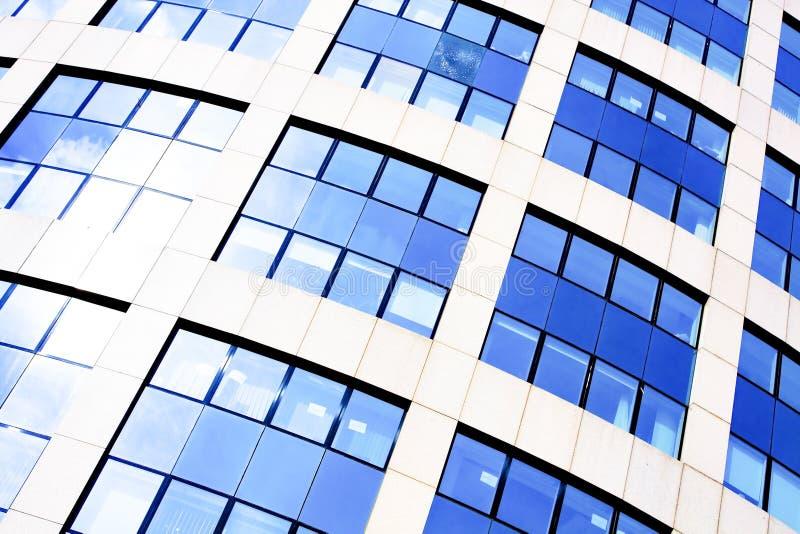Blaues abstraktes Getreide des modernen Büros lizenzfreies stockbild