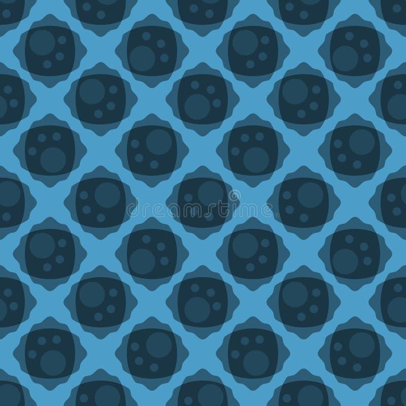 Blaues abstraktes nahtloses Backgound-Muster stock abbildung