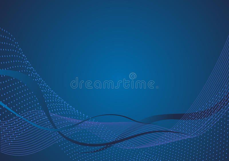 Blaues abstraktes Titelblatt lizenzfreie abbildung