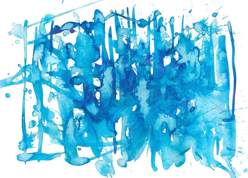 Blaues Aquarell stock abbildung