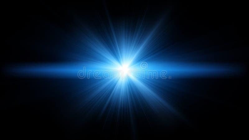 Blaues Aufflackern stockfotografie