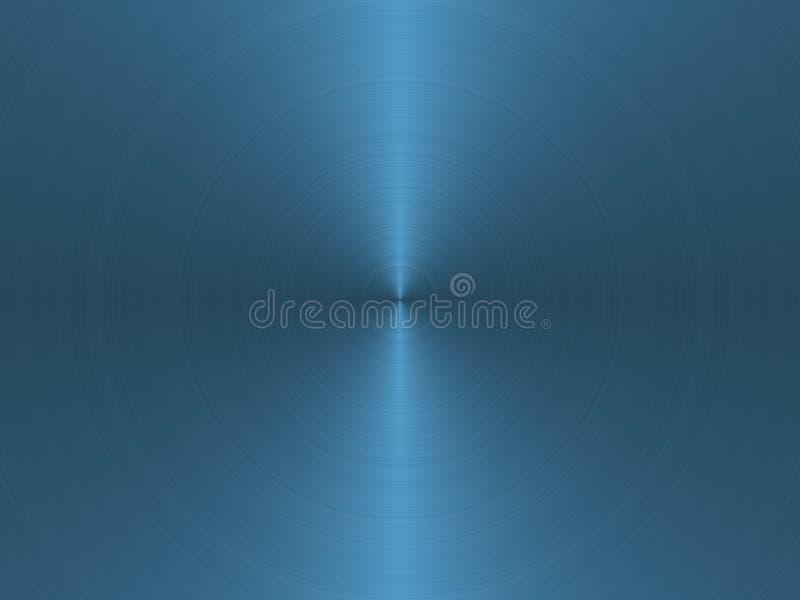 Blaues aufgetragenes Kreismetall stock abbildung