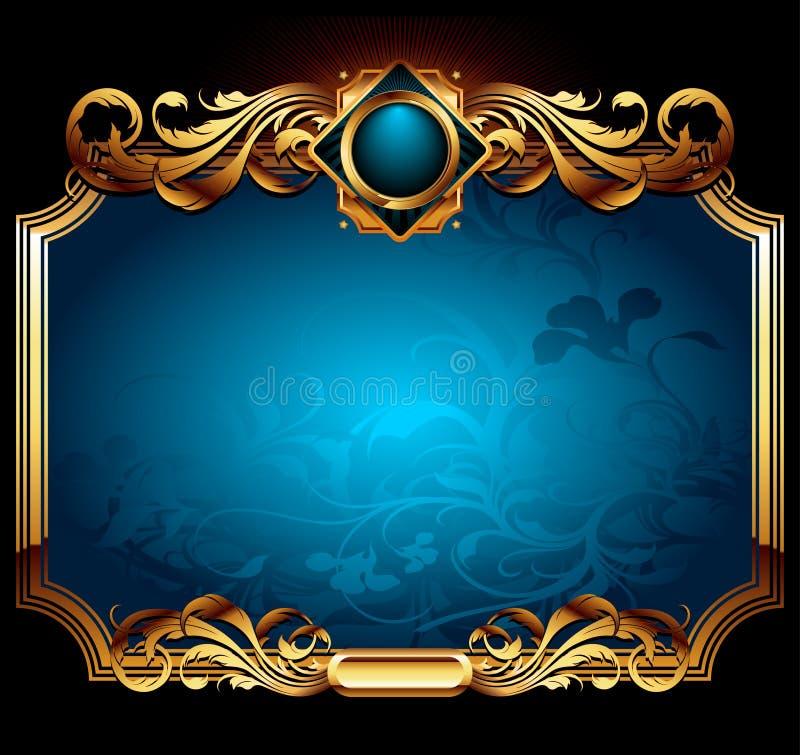 Blaues aufwändiges Feld lizenzfreie abbildung