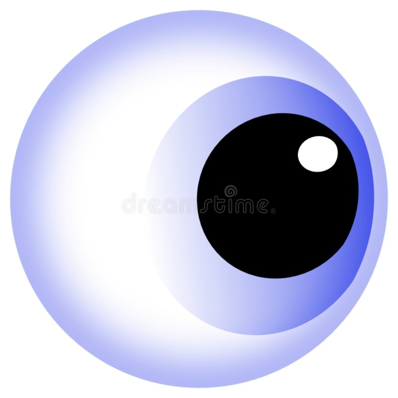 Blaues Augen-Kugel lizenzfreies stockbild