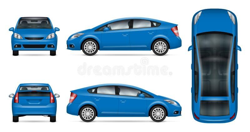 Blaues Autovektormodell stock abbildung