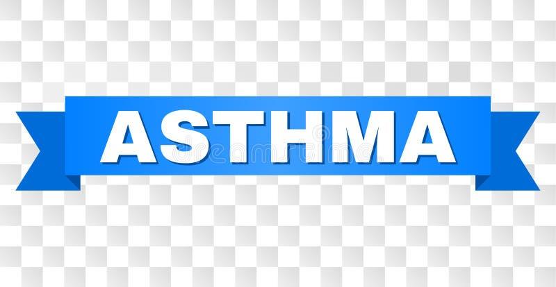 Blaues Band mit ASTHMA Titel stock abbildung