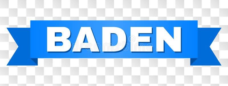 Blaues Band mit BADEN Caption vektor abbildung
