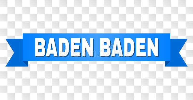 Blaues Band mit BADEN BADEN Title vektor abbildung