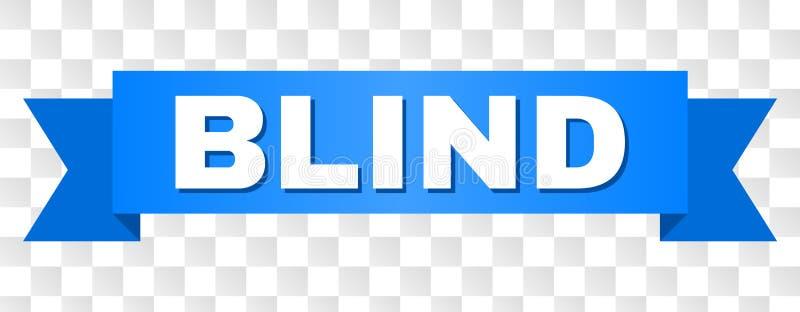 Blaues Band mit BLINDEM Text vektor abbildung