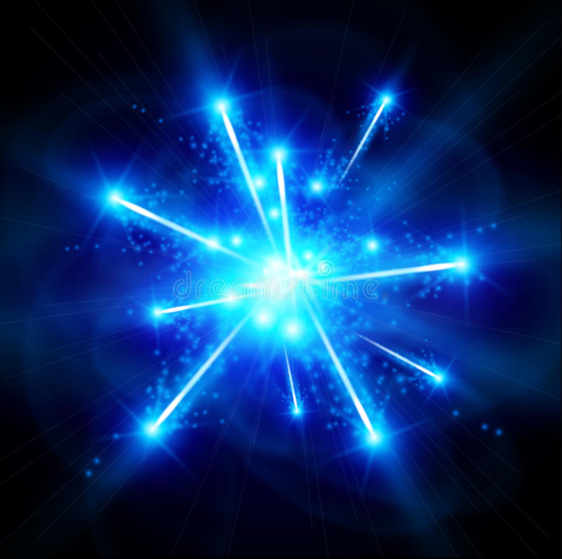 Blaues Big Bang stock abbildung