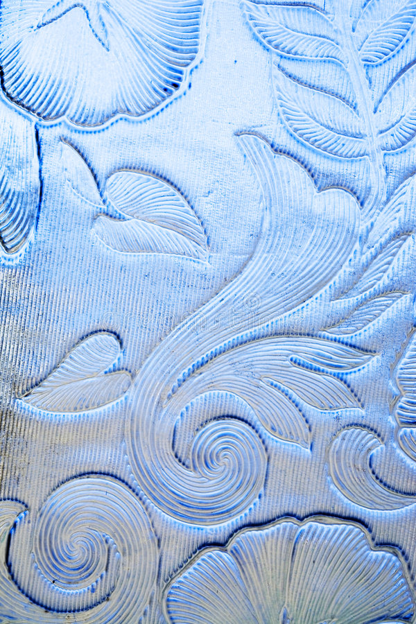 Blaues Blumenglas stockbild