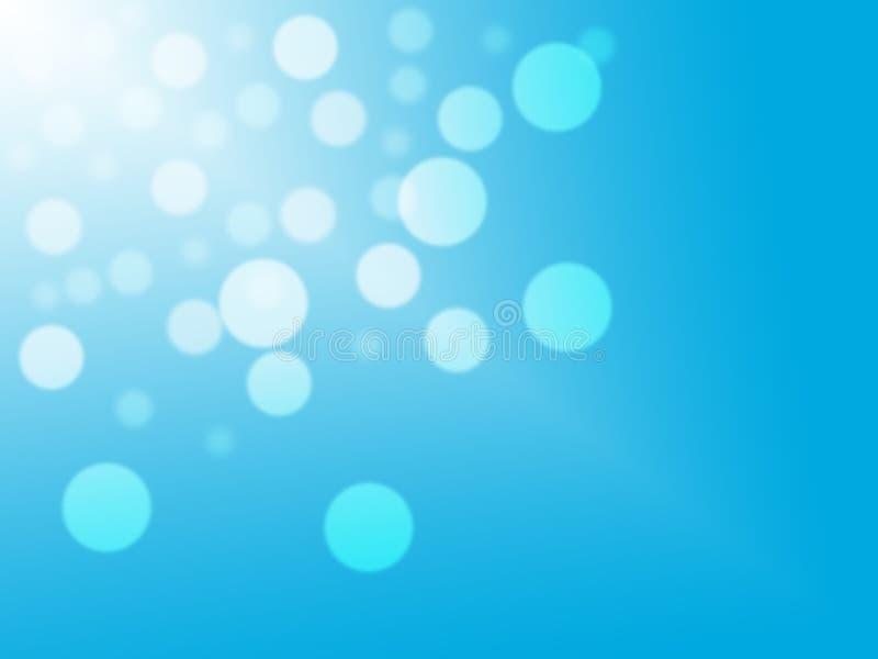 Blaues bokeh beleuchtet defocused entziehen Sie Hintergrund stock abbildung
