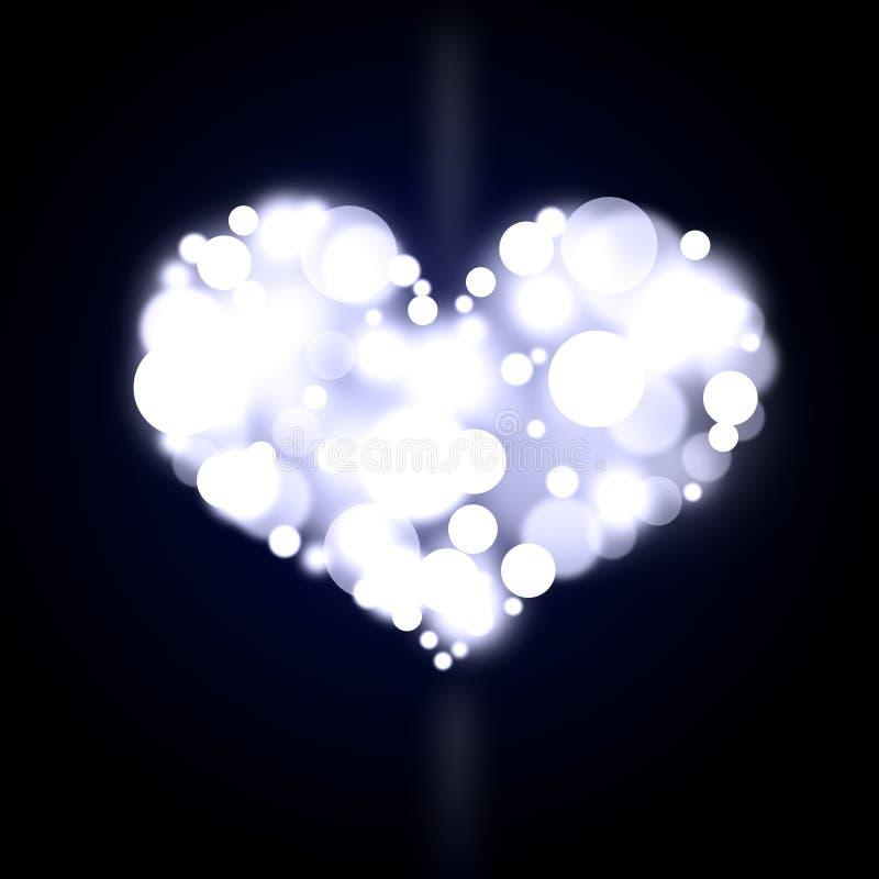 Blaues bokeh Herz lizenzfreie stockbilder