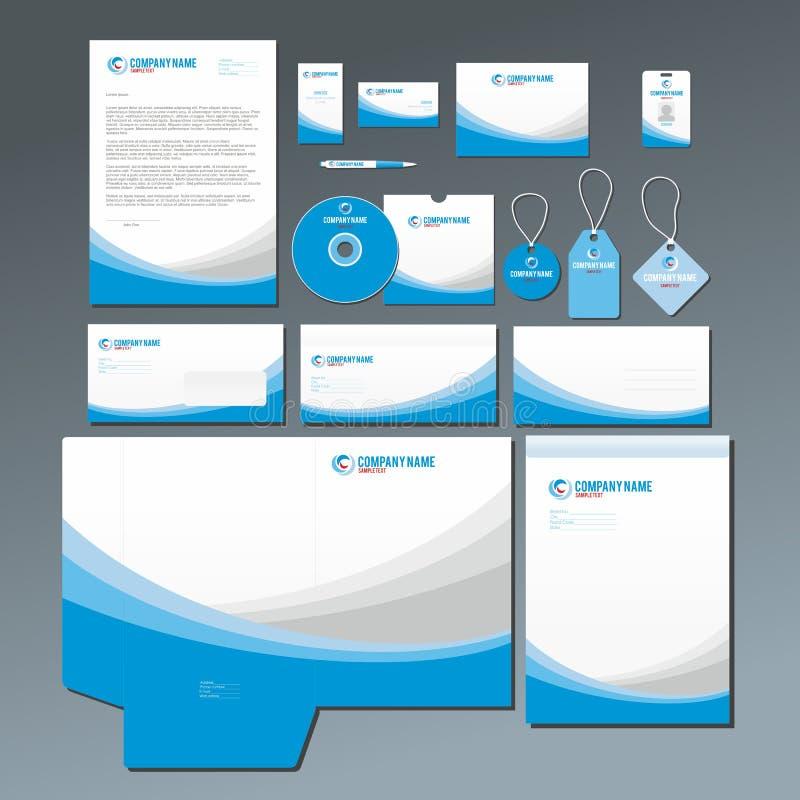 Blaues Briefpapierset