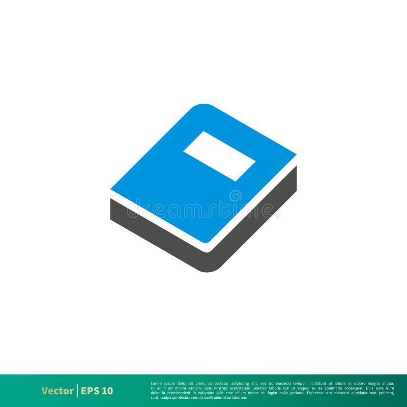 Blaues Buch-Vektor-Ikone Logo Template Illustration Design Vektor ENV 10 vektor abbildung