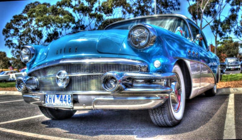 Blaues Buick stockfotografie